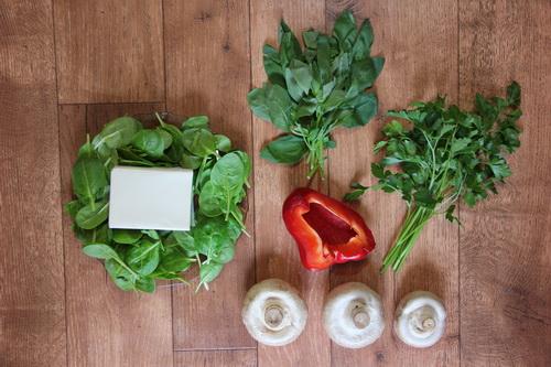 Тофу с грибами и базиликом - ингредиенты