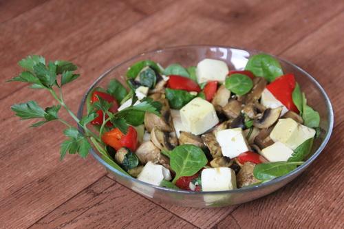 Тофу с грибами и базиликом в имбирном соусе - рецепт