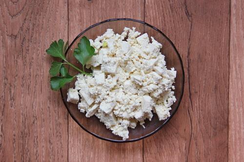 Каннеллони с овощами - шаг 2 (готовим сыр тофу)