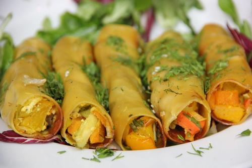 Каннеллони с овощами и тофу - веганский рецепт