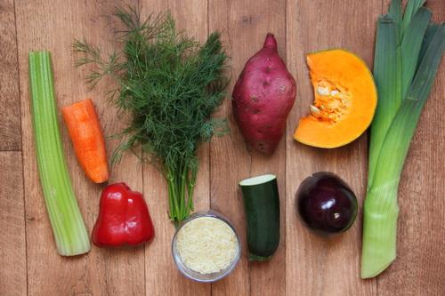 овощи в соусе карри - ингредиенты