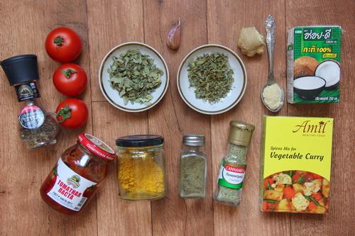 настоящий соус карри - ингредиенты
