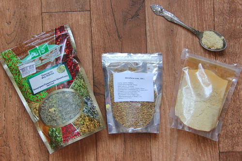 пажитник - листья, зерна цельные , зерна молотые