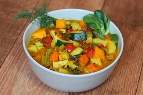 овощи в соусе карри - рецепт из Индии