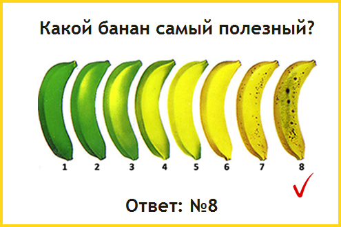 спелый банан - как определить