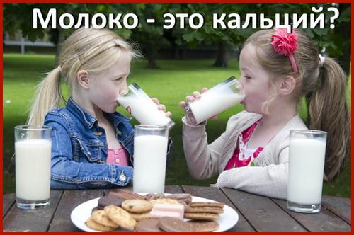 молоко и кальций