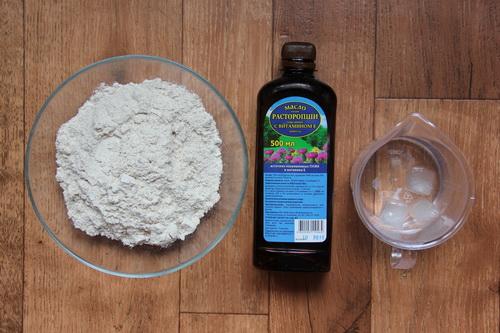 тесто для веганских пирожков (без яиц) - ингредиенты