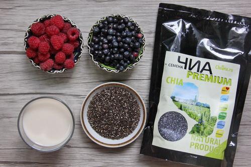 Ягодный пудинг из семян чиа - ингредиенты