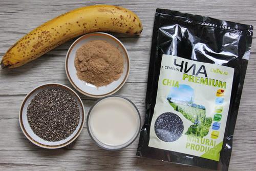 Шоколадно-банановый пудинг: ингредиенты