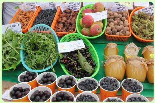 ярмарка фруктов и овощей