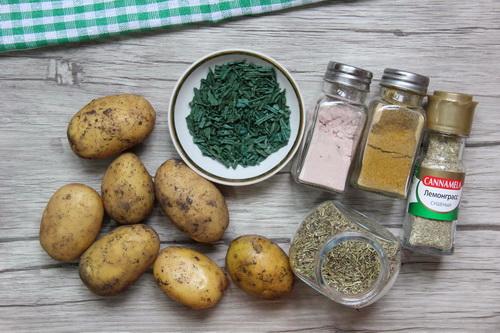 печёный картофель с травами - ингредиенты