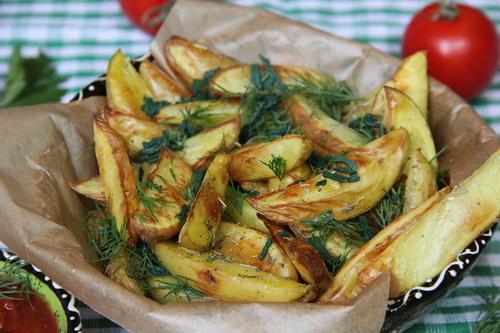 печёный картофель веганский